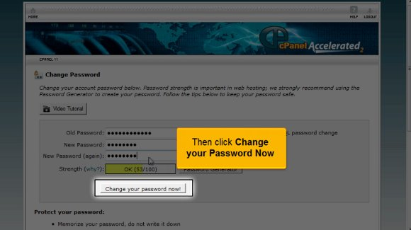 chage password