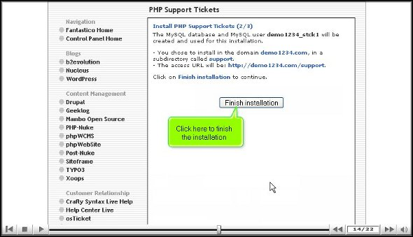 php support ticket